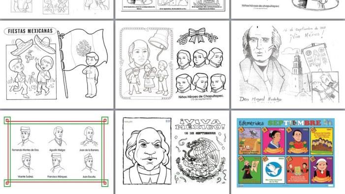 Dibujos de efemérides del mes de Septiembre para colorear | Material ...