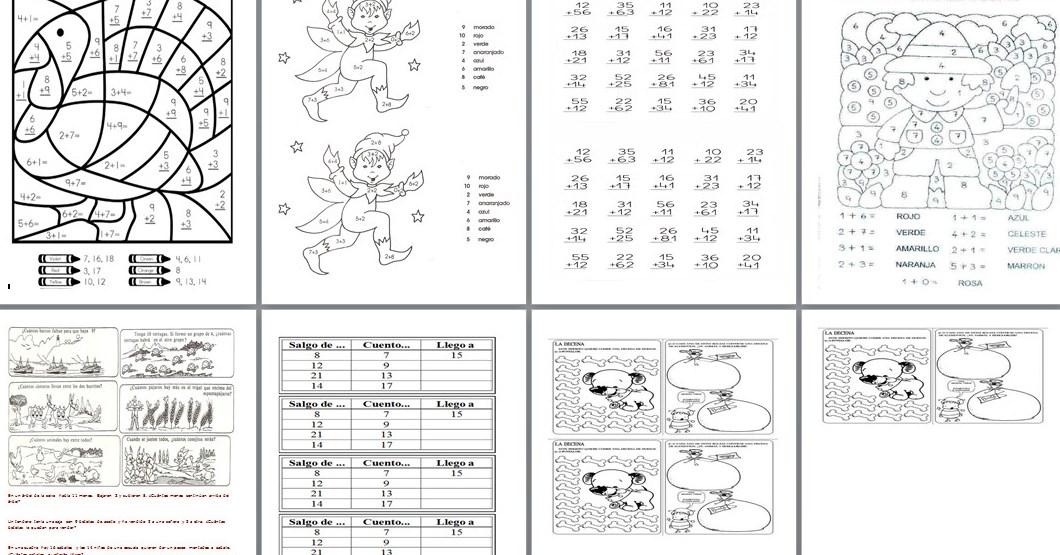 Sumas y actividades matemáticas para primer y segundo grado ...