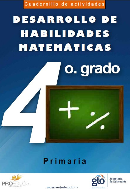 Cuadernillo de actividades matemáticas para 4° grado de primaria ...