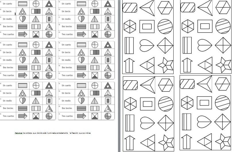Ejercicios de fracciones de primaria | Material Educativo