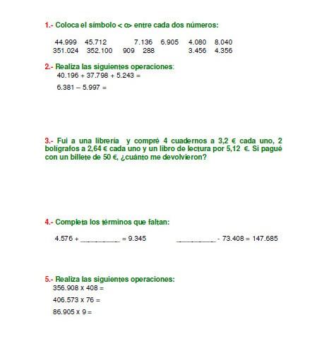 Libro de matemáticas con ejercicios y actividades para 5° grado ...