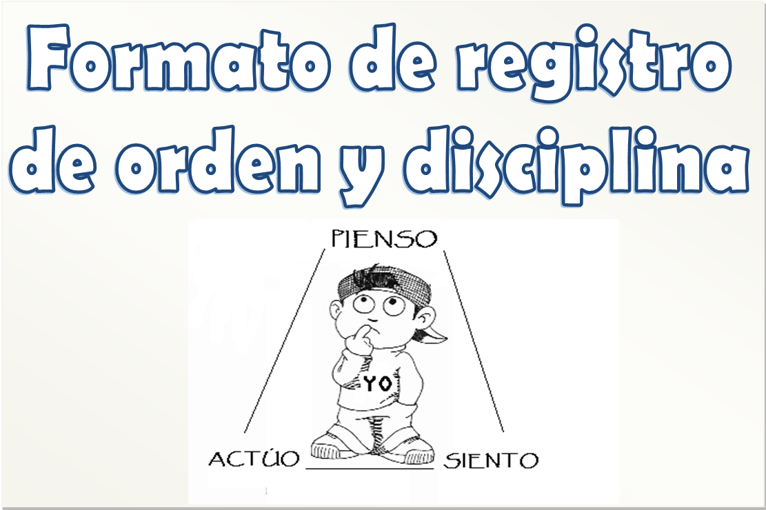 Registro de conducta modificable para primaria | Material Educativo