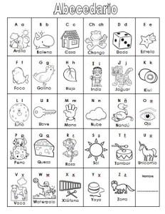 abecedarioColorear