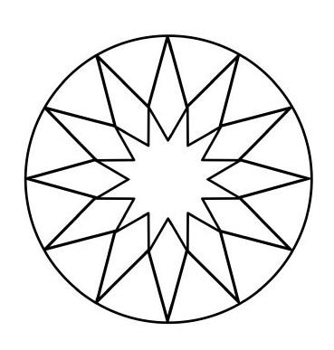 Mandalas En Forma De Estrellas Para Colorear Material