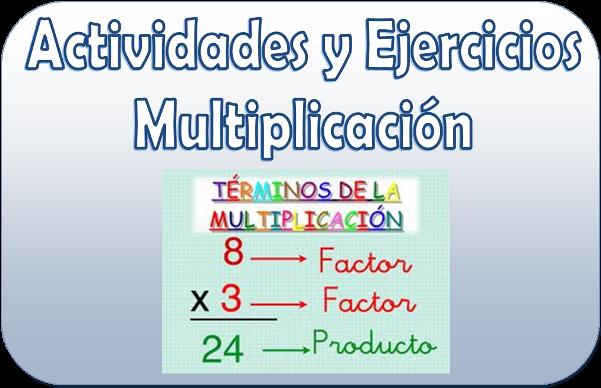 Actividades y ejercicios de multiplicaciones para tercer grado de ...