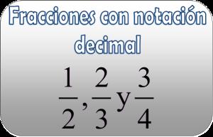 FraccionesDecimal