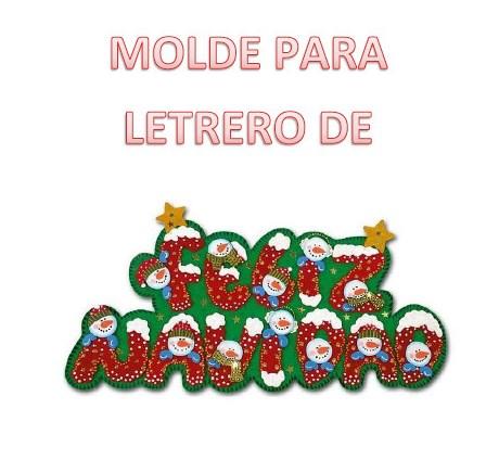Molde para letrero de feliz navidad material educativo - Letras para letreros grandes ...