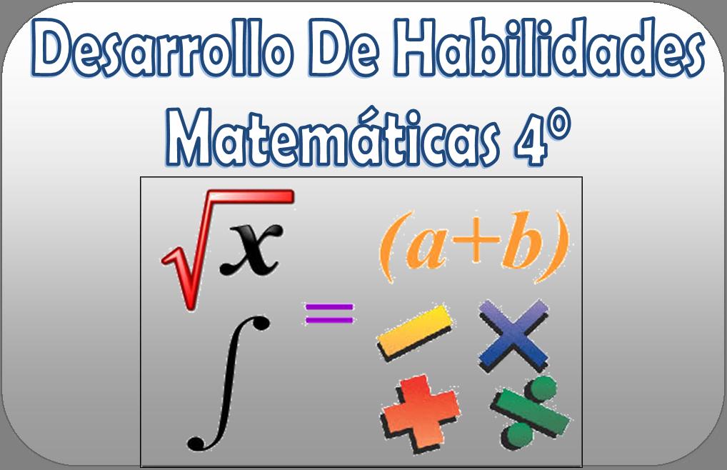Cuadernillo de desarrollo de habilidades matemáticas de cuarto grado ...