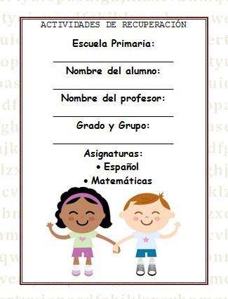 Guía de actividades para vacaciones primer grado | Material Educativo