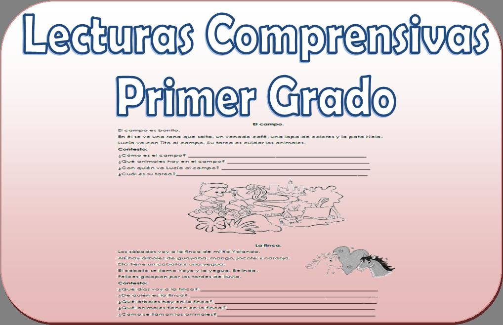 Lecturas comprensivas para primer grado de primaria | Material Educativo