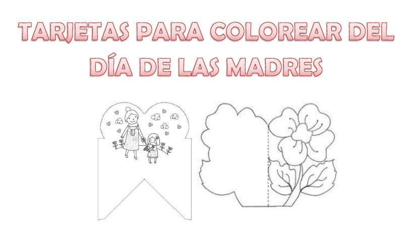 54 Tarjetas De Felíz Cumpleaños Para Pintar Y Regalar: Tarjetas Para Mama Colorear