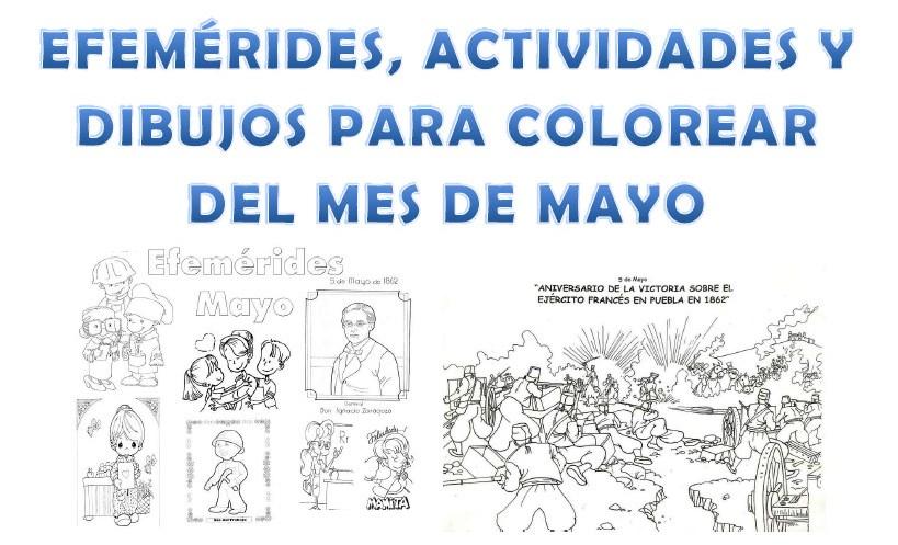 Efemérides, actividades y dibujos para colorear del mes de mayo ...
