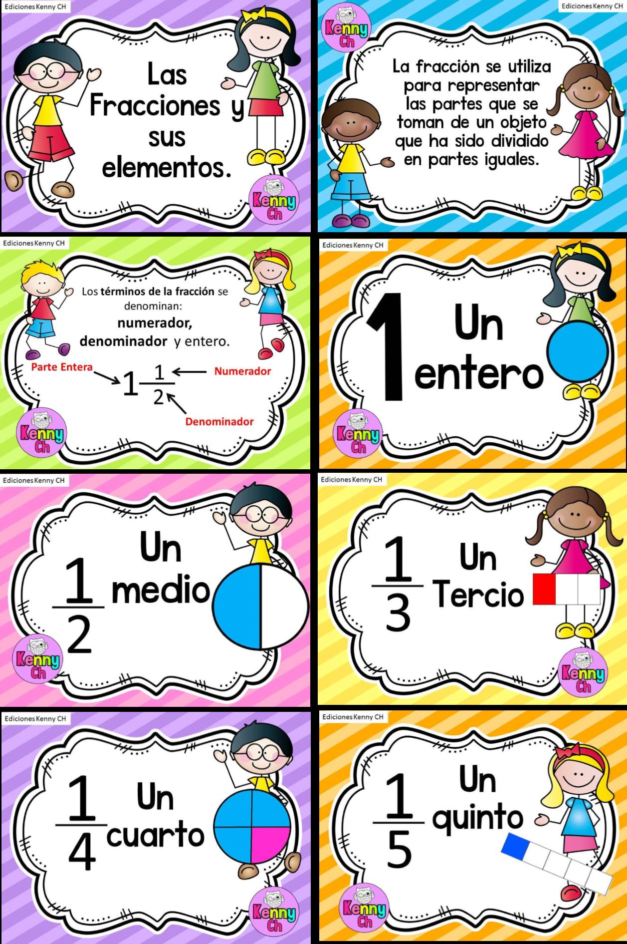 Las fracciones y sus elementos en dise os llamativos for Definicion de cuarto