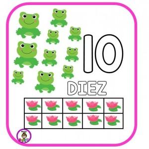 Diseños de números del 1 al 10 para preescolar y primer grado de ...