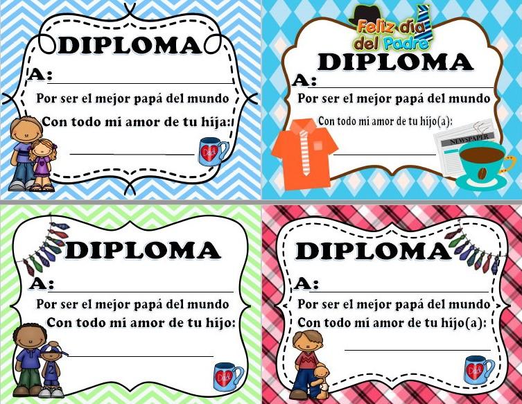 Fabulosos y bonitos diplomas originales para el da del padre sin