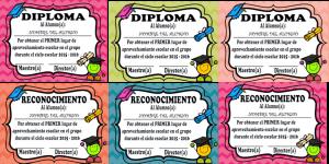 formato de diploma para imprimir diplomas de preescolar para editar
