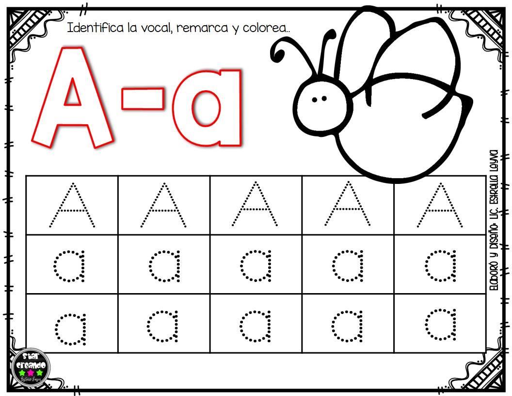 actividades para aprender las vocales en preescolar y primer ciclo de primaria material educativo. Black Bedroom Furniture Sets. Home Design Ideas