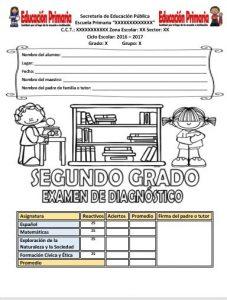 ExamenDiagnosticoSegundoGrado