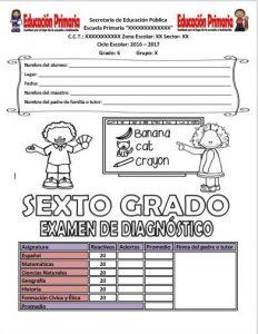 ExamenDiagnosticoSextoGrado