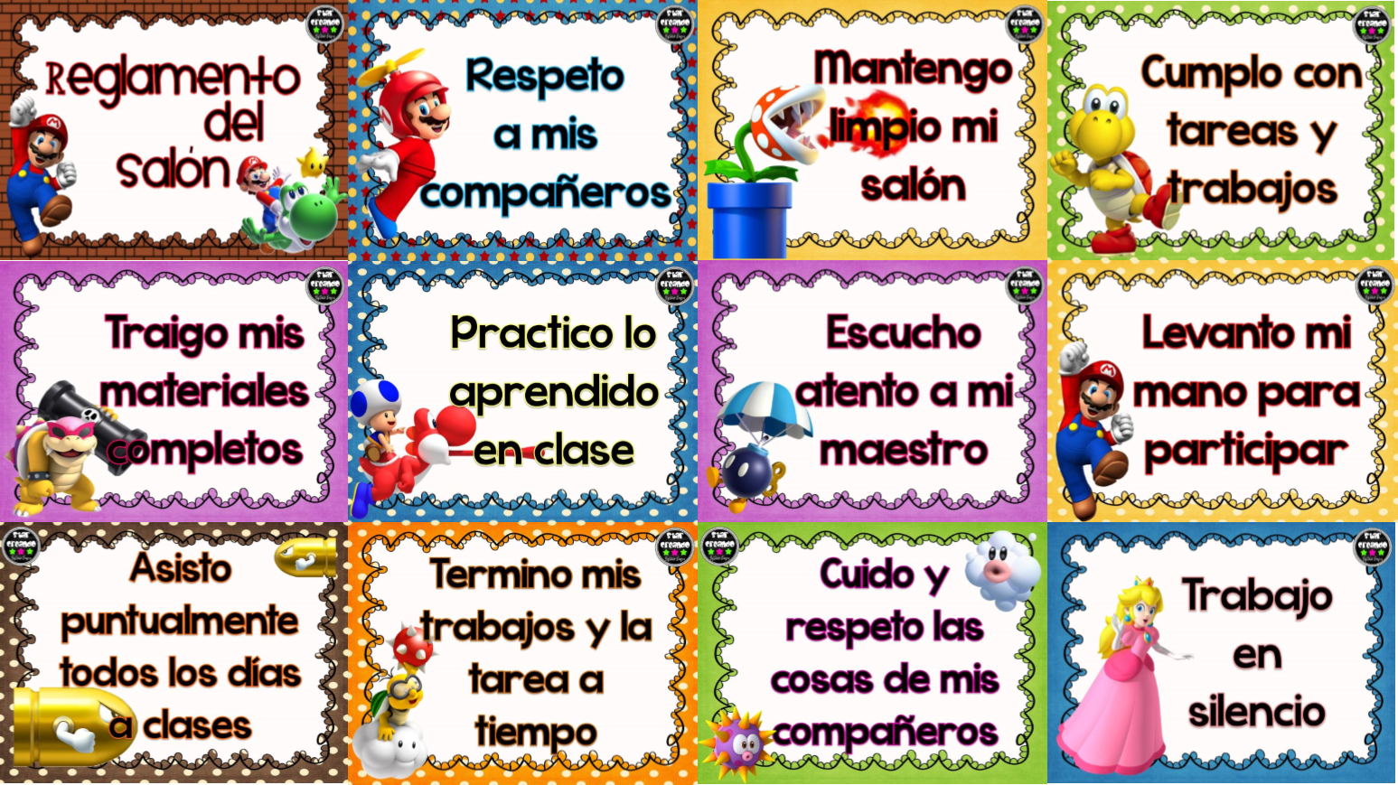 Reglamentos material educativo for 10 reglas del salon de clases