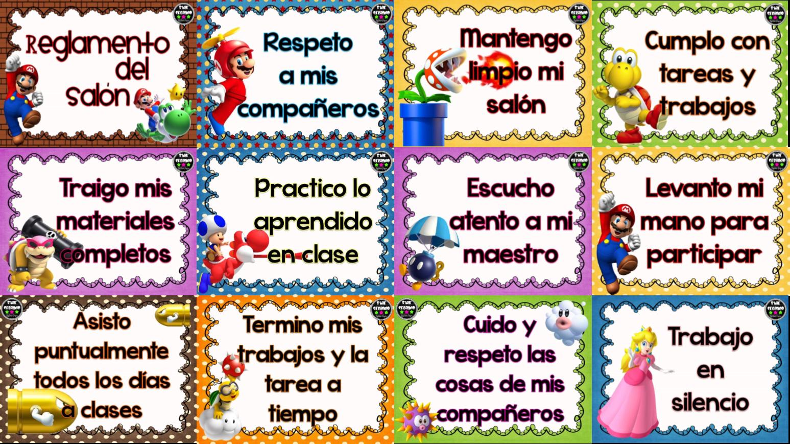 Reglamentos material educativo for Actividades para el salon de clases de primaria