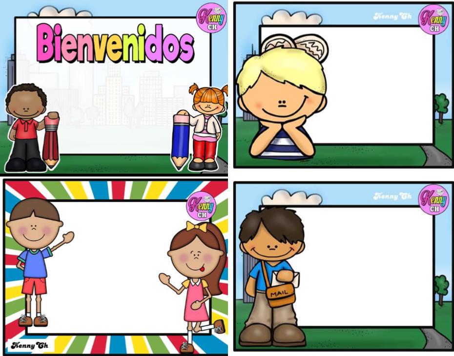 Sencillos pero bonitos gafetes coloridos material educativo for Actividades para el salon de clases de primaria