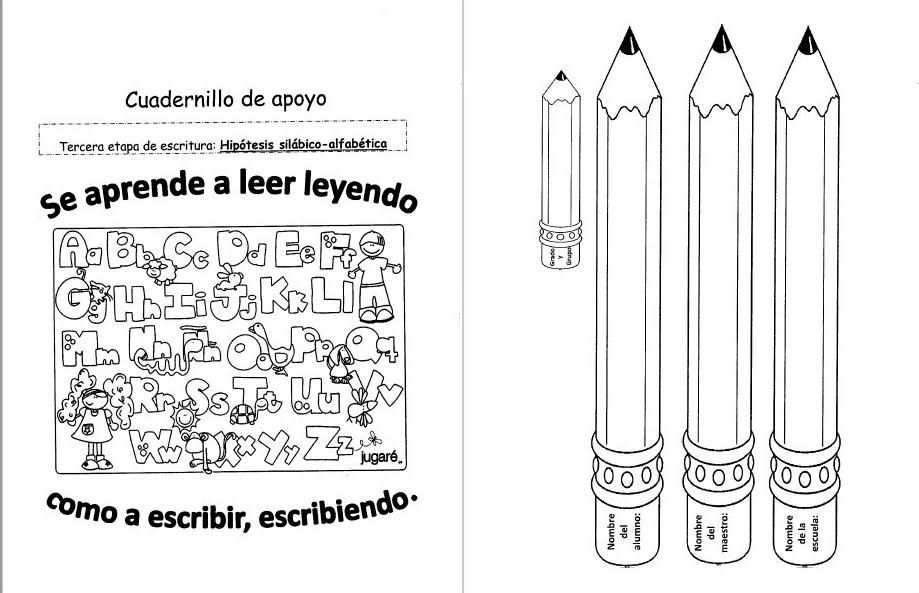 Cuadernillo De Apoyo Para Alumnos En Etapa Silabico Alfabetico