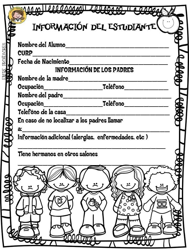 Ficha de informaci n del estudiante material educativo - Agencias para tener estudiantes en casa ...