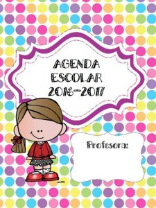 Maravillosa y colorida agenda escolar 2016 2017 for Resolucion docentes 2016