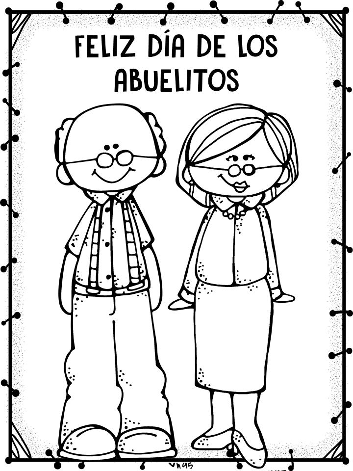Lujo Páginas Para Colorear Para El Día De Los Abuelos Bosquejo ...