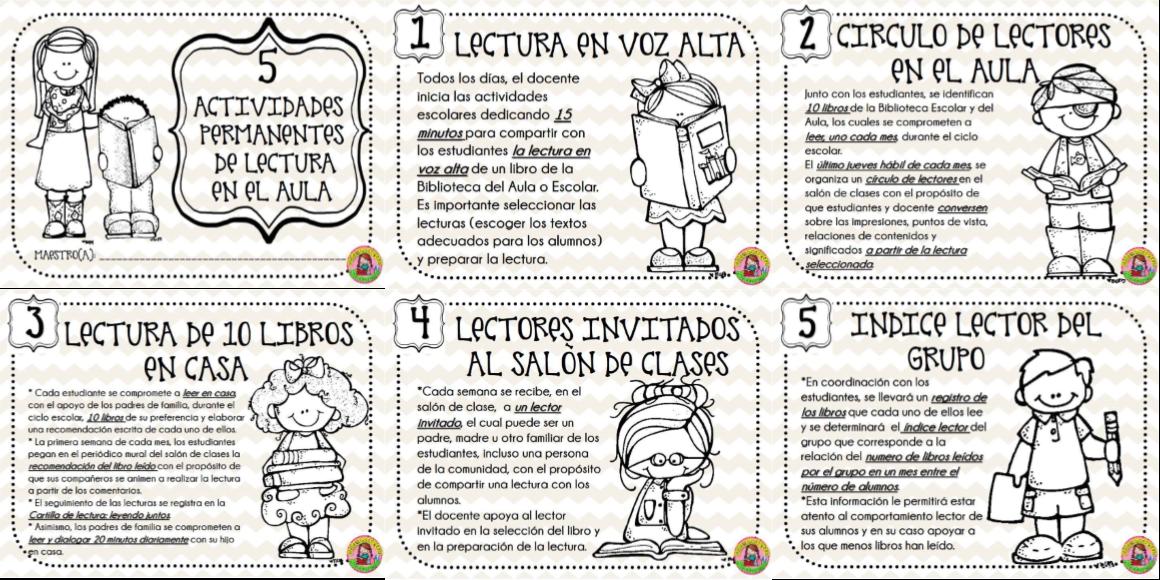 Excelentes 5 actividades permanentes de lectura en el aula for Actividades para el salon de clases