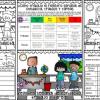 Excelente registro semanal de conducta, trabajos y tareas