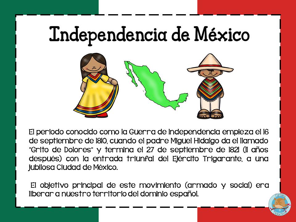 La independencia de México en diseños por etapas | Material Educativo
