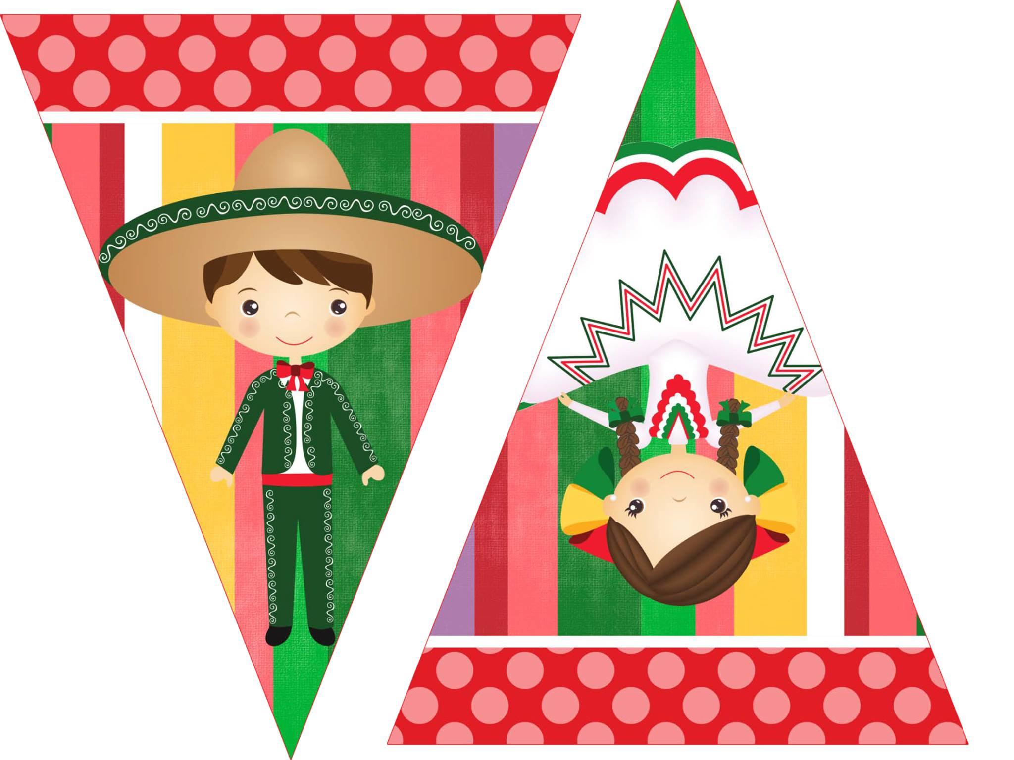 Todo Con Papel Banderines Para Fiesta Mexicana