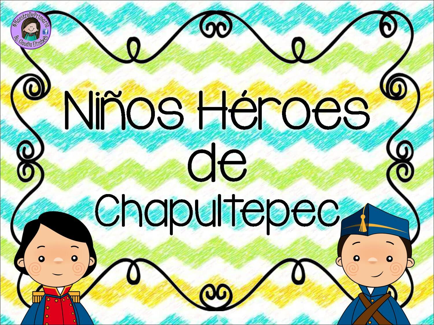 Estupendos Diseños De Los Niños Héroes Material Educativo