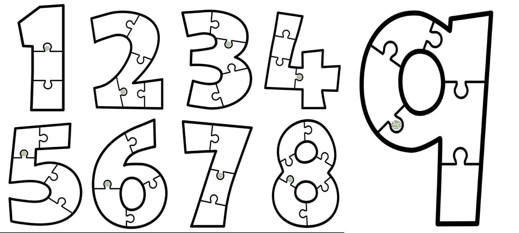Genial Rompecabezas De Números Para Preescolar Y Primer Grado De