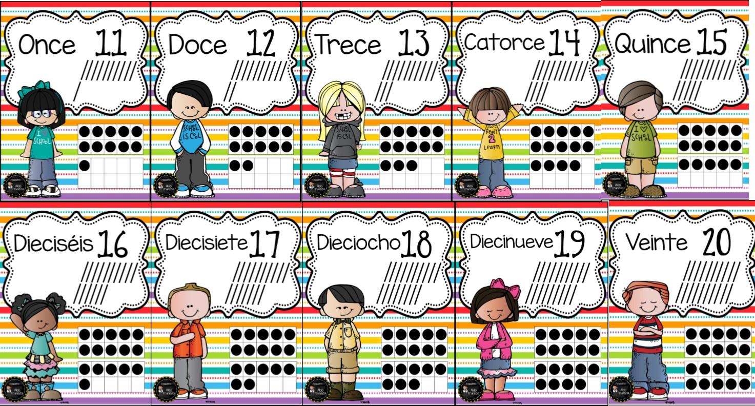 Fabulosos Diseños De Números Del 1 Al 20 Con Su Escritura Correcta Y