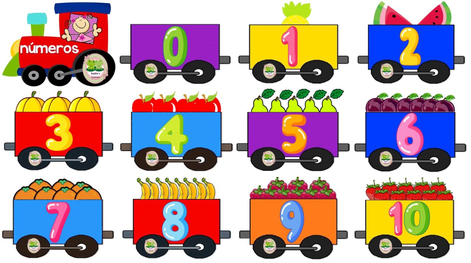 Fabuloso tren de los números para preescolar y primer grado de ...
