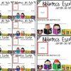 Fantásticas credenciales para la biblioteca escolar de preescolar, primaria y secundaria