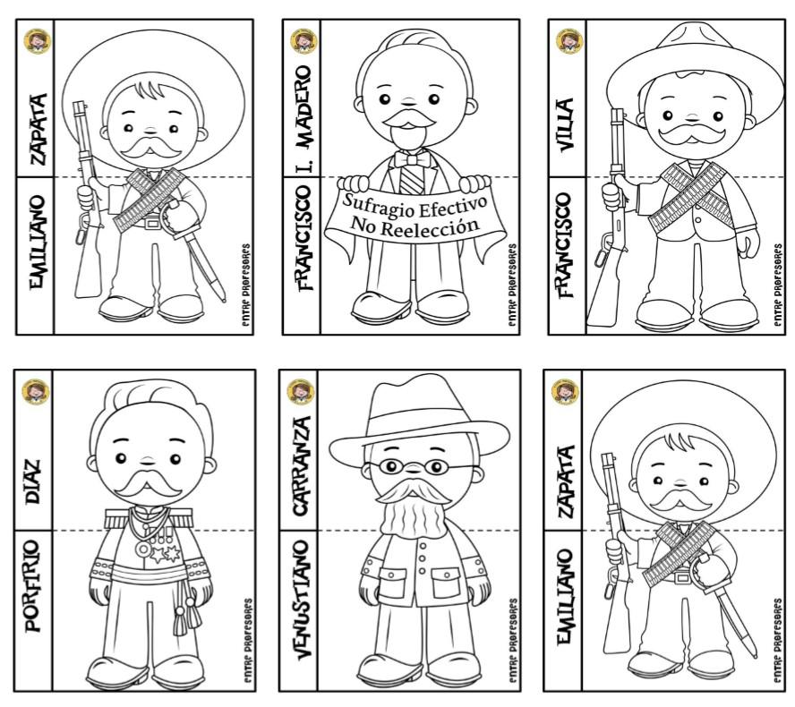 Estupendos Diseños De Los Personajes De La Revolución