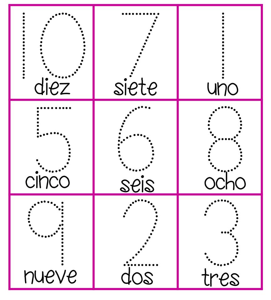 los nmeros en preescolar - photo #22