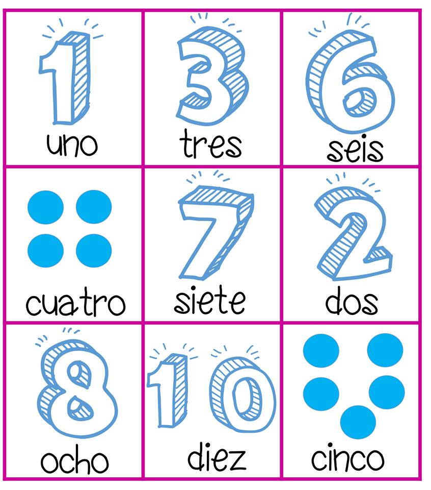 Fantástica lotería de números para enseñar y aprender en preescolar ...