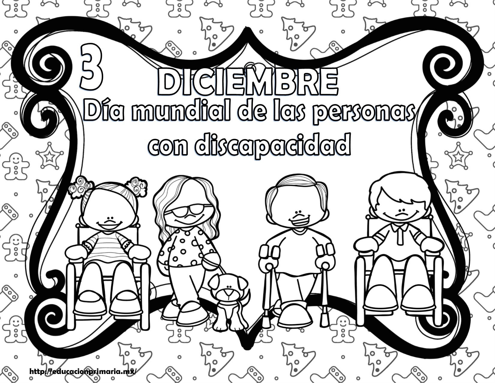 Estupendos diseños de las efemérides del mes de diciembre en blanco ...