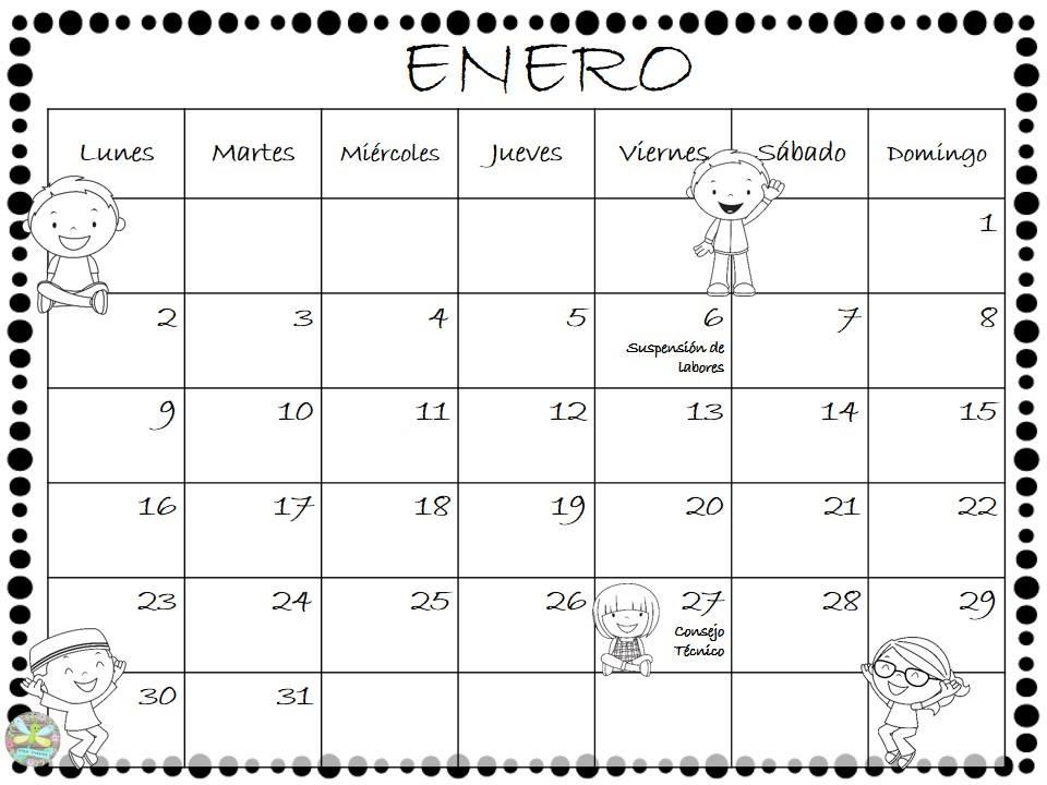 Fant sticos planificadores calendario del mes de enero - Mes de enero 2017 ...