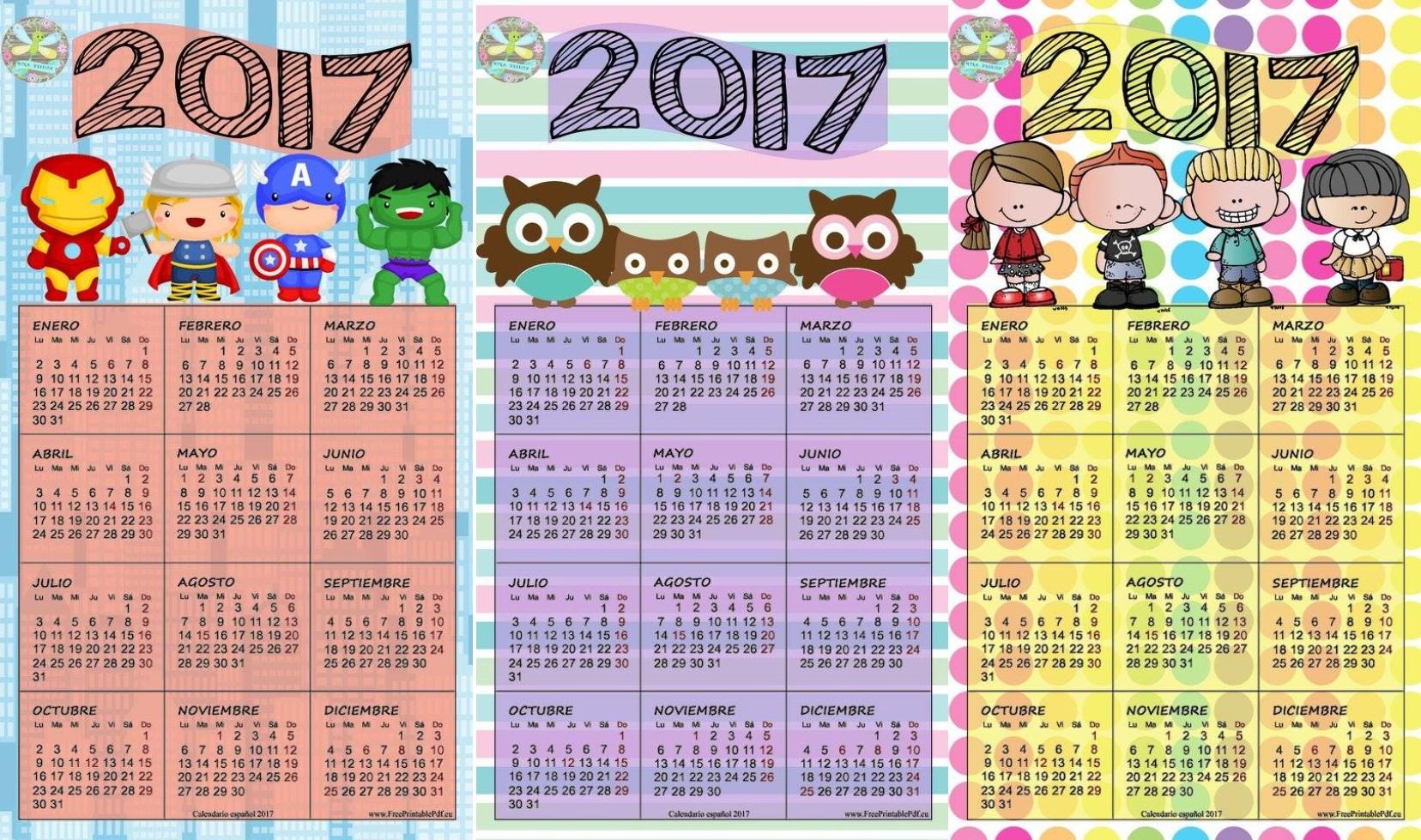 Bonitos calendarios del 2017 | Material Educativo