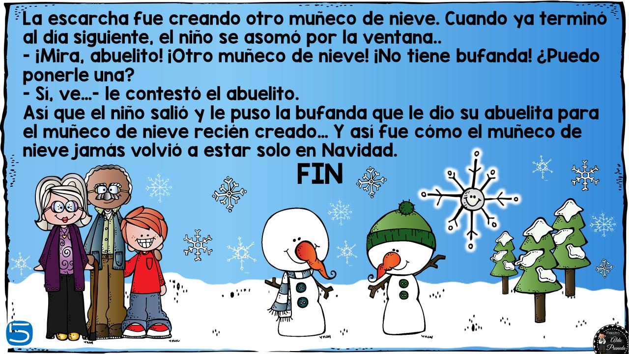 Estupendo y lindo cuento navideño el muñeco de nieve | Material ...