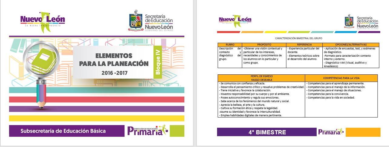 Elementos para la planeaci n del cuarto bloque de todos for Examen para plazas docentes 2017