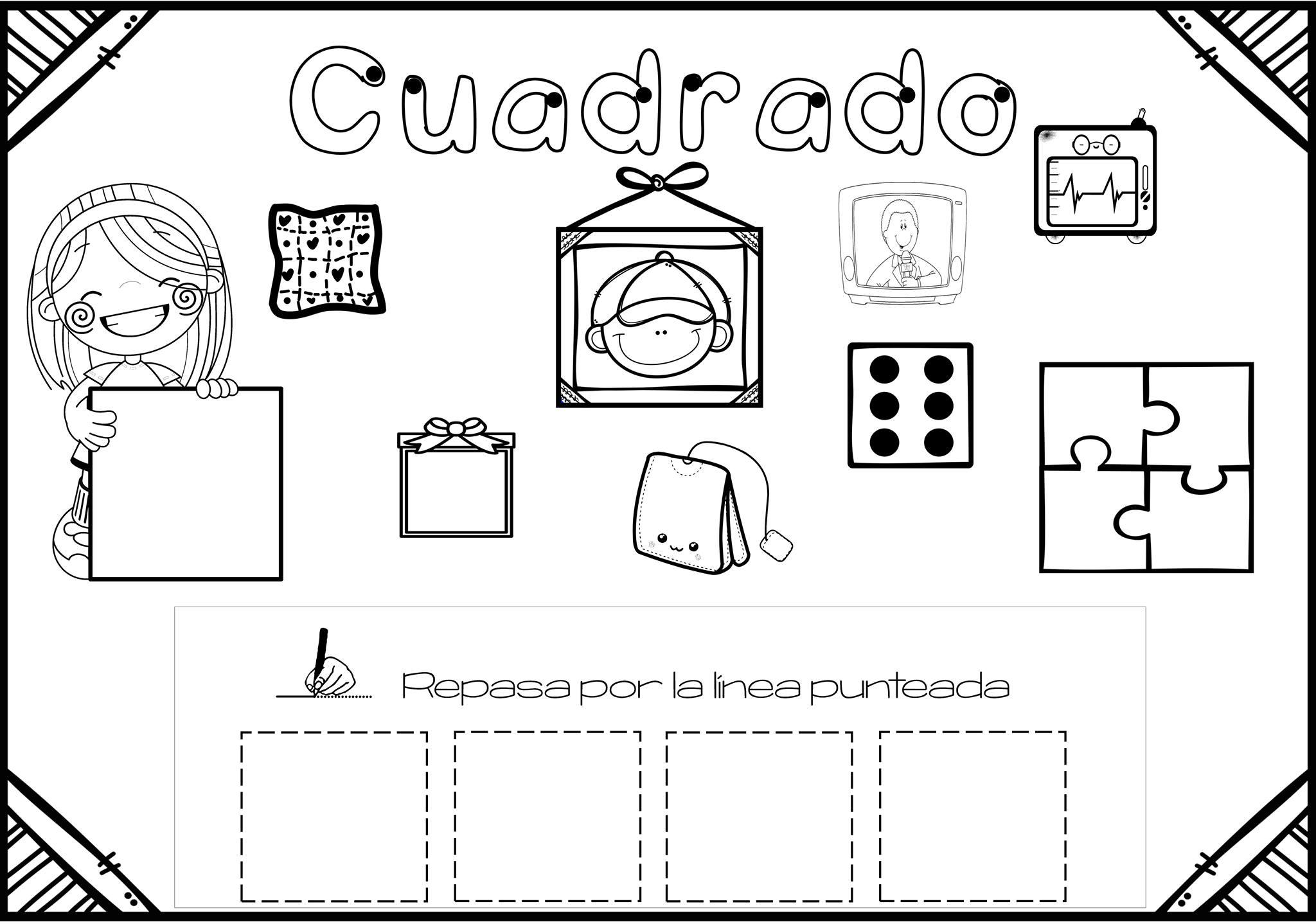Atractivo GeometrÃa Hojas De Trabajo Tercero Grado Ilustración ...