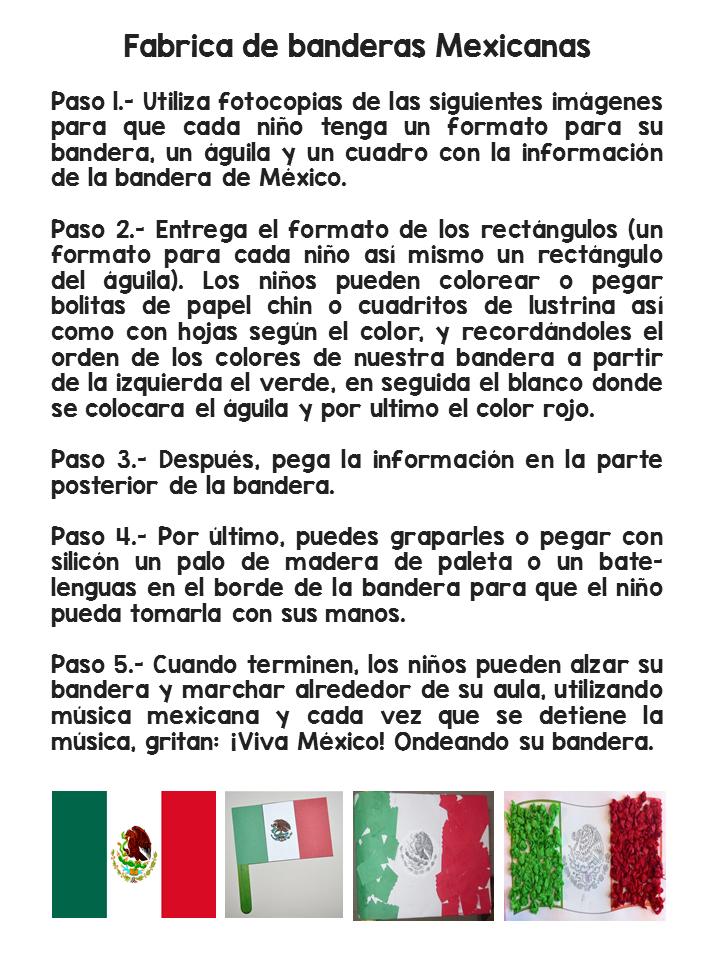 Fantástico material para trabajar el día de la Bandera de México 24 ...