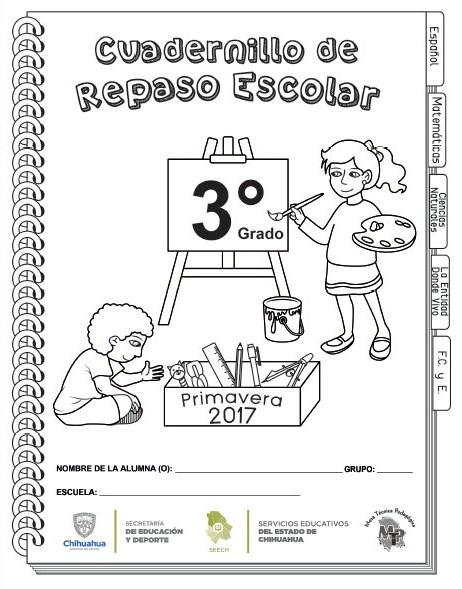 Cuadernillo de repaso del tercer grado del ciclo escolar 2016 - 2017 ...